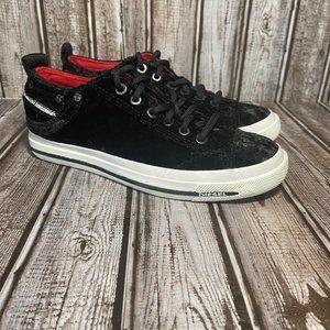 Diesel Exposure lV low fashion shoes - velour - size 6